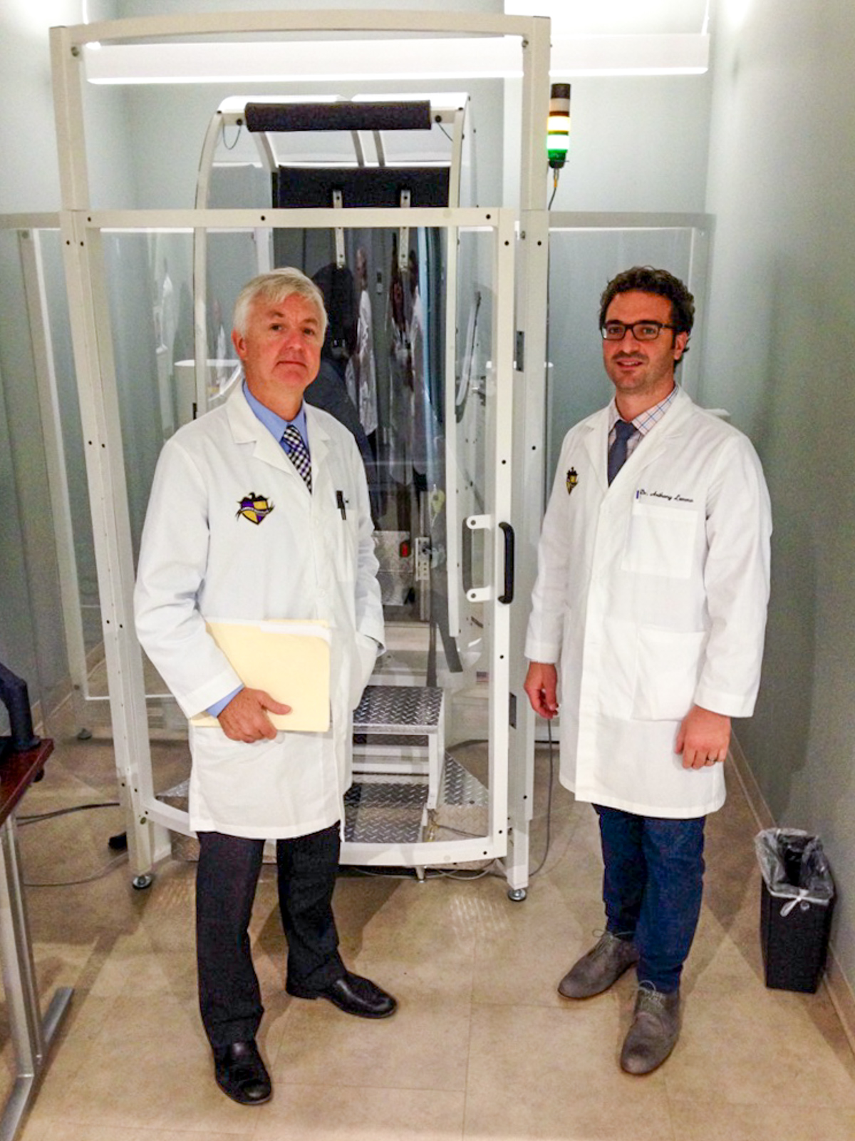 Dr. Anthony Lemmo & Dr. Ted Carrick in lab